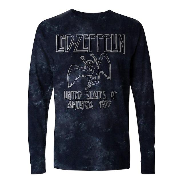Led Zeppelin Long Sleeve Shirt | US Tour '77 Tie Dye Led Zeppelin Long Sleeve Shirt