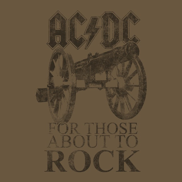 AC/DC T-Shirt   For Those About To Rock Album Cover AC/DC T-Shirt