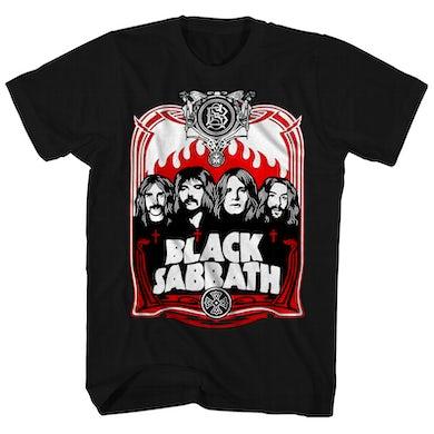 Black Sabbath T-Shirt | Red Flames Black Sabbath Shirt