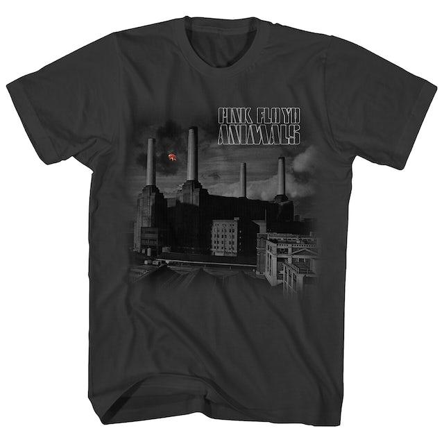 Pink Floyd T-Shirt | Animals Monotone Album Art Pink Floyd T-Shirt