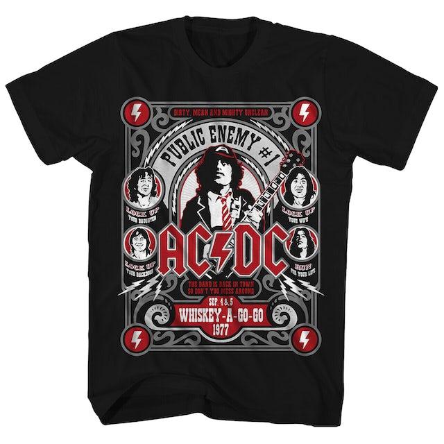 AC/DC T-Shirt | Public Enemy #1 AC/DC T-Shirt (Reissue)
