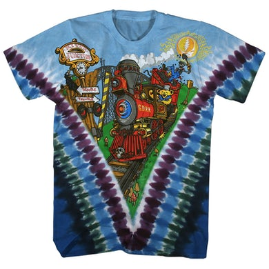 Grateful Dead T-Shirt | Grateful Dead Railroad Tie Dye Grateful Dead Shirt