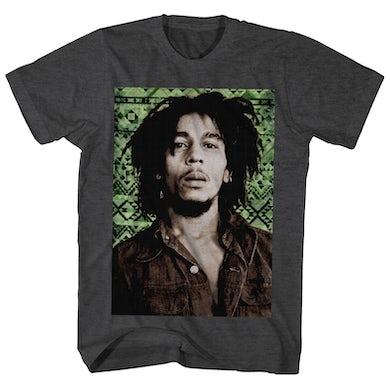 Bob Marley T-Shirt | Green Aztec Portrait Bob Marley Shirt