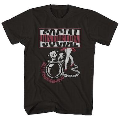 Social Distortion T-Shirt | Ball & Chain '90 Tour Social Distortion Shirt (Reissue)