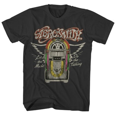 Aerosmith T-Shirt   Let The Music Do The Talking Jukebox Aerosmith Shirt