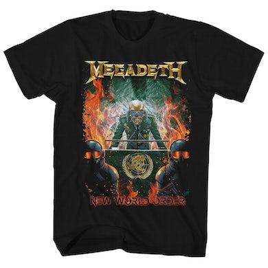 Megadeth T-Shirt | New World Order Art Megadeth Shirt