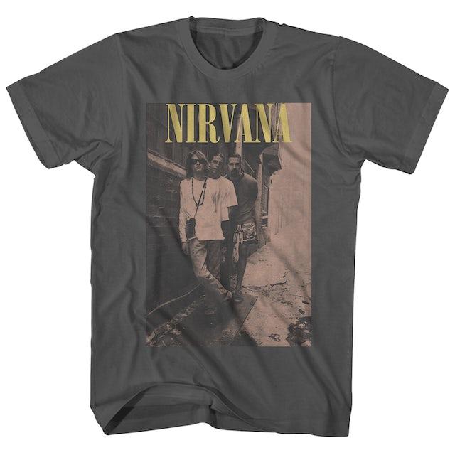 Nirvana T-Shirt | On The Wall Pose Vintage Nirvana T-Shirt