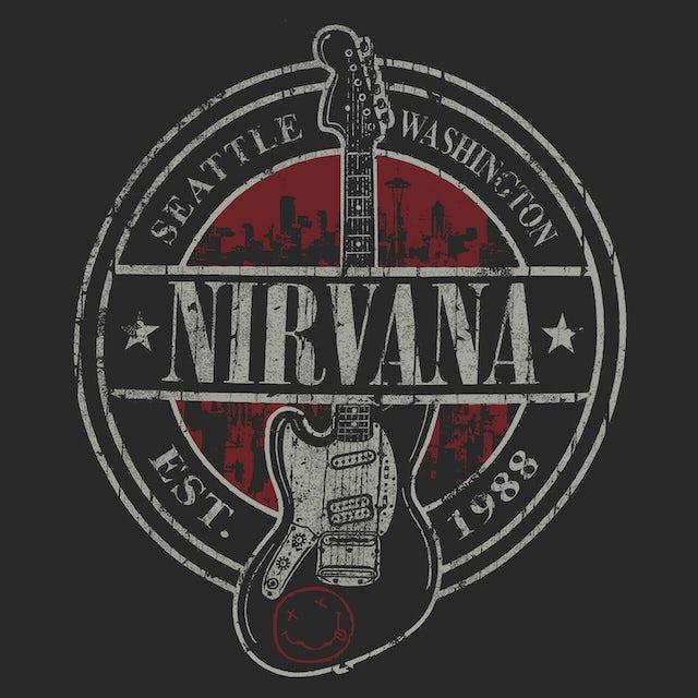Nirvana T-Shirt | Est. 1988 Guitar Logo Nirvana Shirt