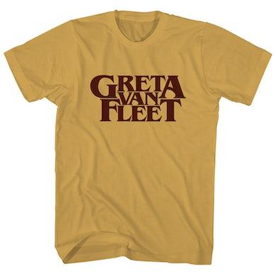 Greta Van Fleet T-Shirt | Gold Classic Logo Greta Van Fleet Shirt