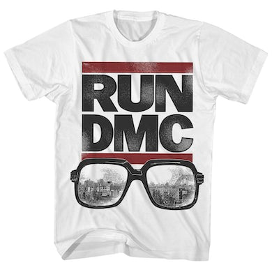 Run DMC T-Shirt | Classic Logo & Glasses Run DMC Shirt