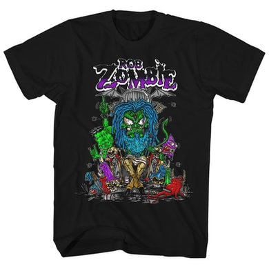 Rob Zombie T-Shirt | Baphomet Cartoon Rob Zombie Shirt