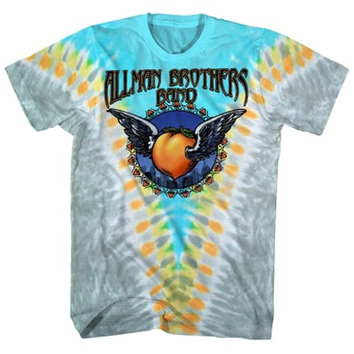 The Allman Brothers Band T-Shirt | Flying Peach Tie Dye The Allman Brothers Shirt