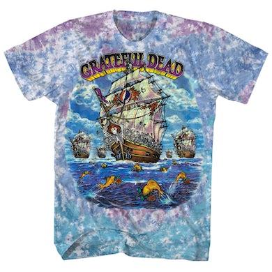 Grateful Dead T-Shirt | Ship Of Fools Grateful Dead Tie Dye Shirt