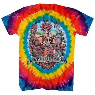 Grateful Dead T-Shirt | Bertha Skeleton Rainbow Tie Dye Grateful Dead Shirt