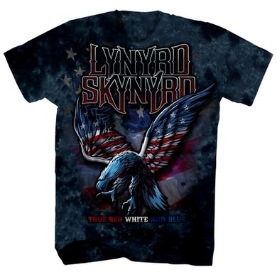 T-Shirt | Red White & Blue Eagle Tie Dye Lynyrd Skynyrd Shirt