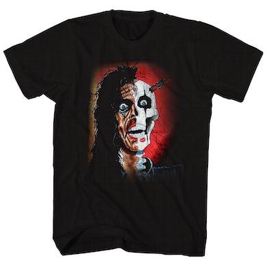 Alice Cooper T-Shirt | Trashed Portrait Alice Cooper Shirt