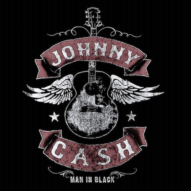 Johnny Cash T-Shirt | Winged Guitar Johnny Cash Shirt