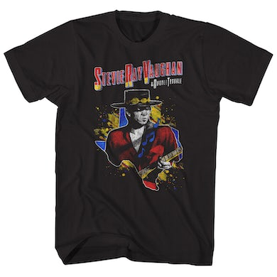Stevie Ray Vaughan T-Shirt | Double Trouble '84 Tour Stevie Ray Vaughan Shirt (Reissue)