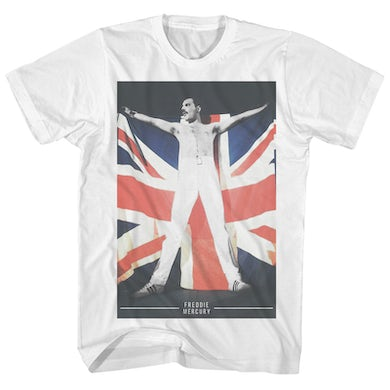 Queen T-Shirt | Freddie Mercury Union Jack Flag Queen Shirt