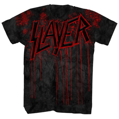 Slayer T-Shirt | Raining Blood Drip Tie Dye Slayer Shirt