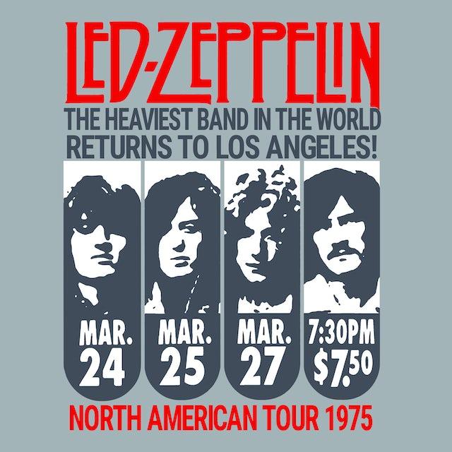 Led Zeppelin T-Shirt   Los Angeles '75 Tour Led Zeppelin Shirt