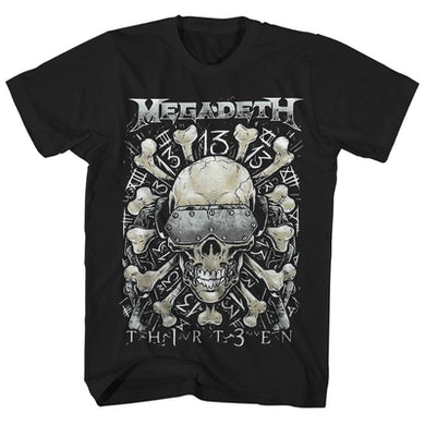 Megadeth T-Shirt | Thirteen Skull & Bones Megadeth Shirt