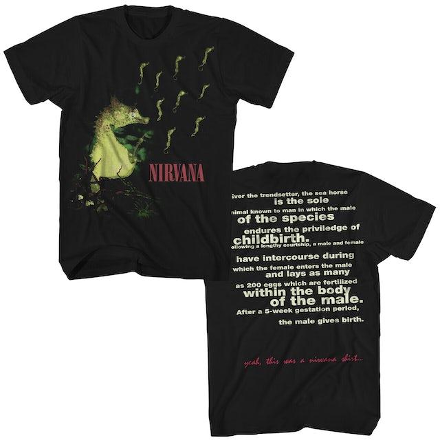 Nirvana T-Shirt | All Apologies Seahorse Nirvana Shirt