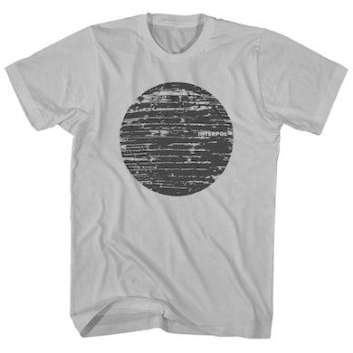 Interpol T-Shirt | Wood Texture Logo Interpol Shirt
