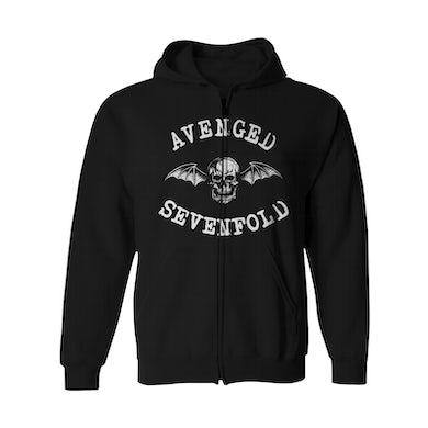 Avenged Sevenfold Zip-Up Hoodie | Deathbat Logo Avenged Sevenfold Hoodie