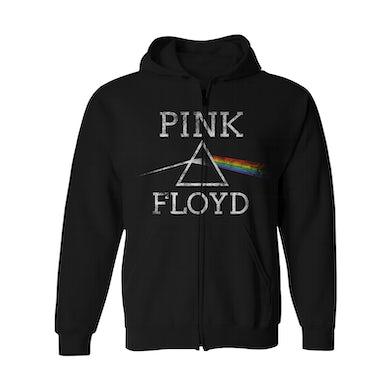 Pink Floyd Zip-Up Hoodie | Dark Side Of The Moon Pink Floyd Hoodie