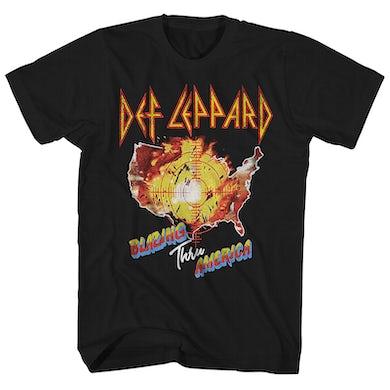 Def Leppard T-Shirt | Blazing Thru America Tour Def Leppard Shirt (Reissue)