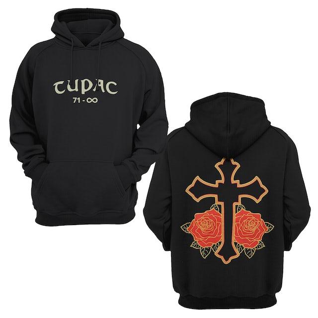 Tupac Hoodie | Pac Cross & Roses Tupac Hoodie