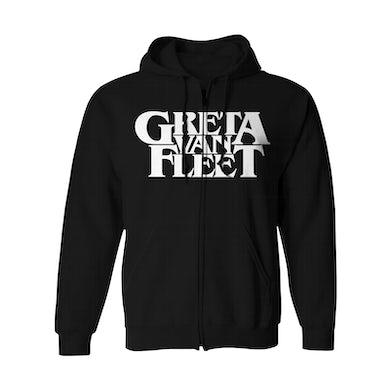 Greta Van Fleet Zip-Up Hoodie | Logo Greta Van Fleet Hoodie