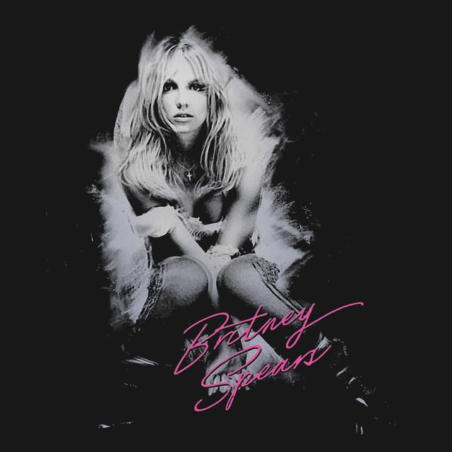 Britney Spears T-Shirt | Brushed Photo Signature Britney Spears Shirt