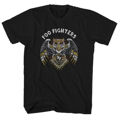 Foo Fighters T-Shirt | Owl Logo Foo Fighters Shirt