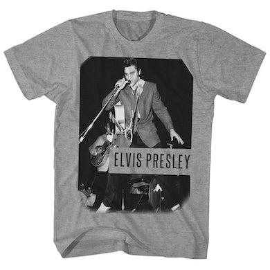 Elvis Presley T-Shirt   On Stage Photo Elvis Presley Shirt