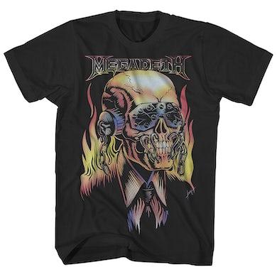 Megadeth T-Shirt   Flaming Vic Rattlehead Megadeth Shirt