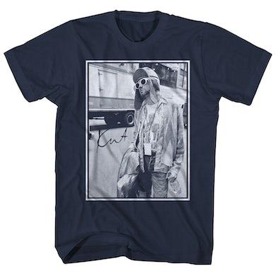 Nirvana T-Shirt | Cobain Tour Bus Portrait Nirvana Shirt