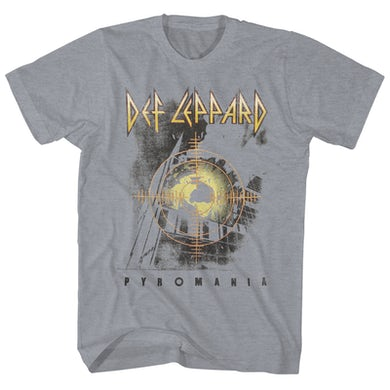 T-Shirt | Pyromania Album Art Heather Def Leppard Shirt
