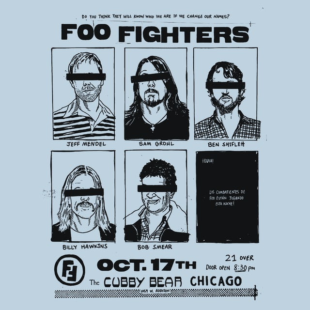 Foo Fighters T-Shirt | Chicago Concert Foo Fighters Shirt (Reissue)