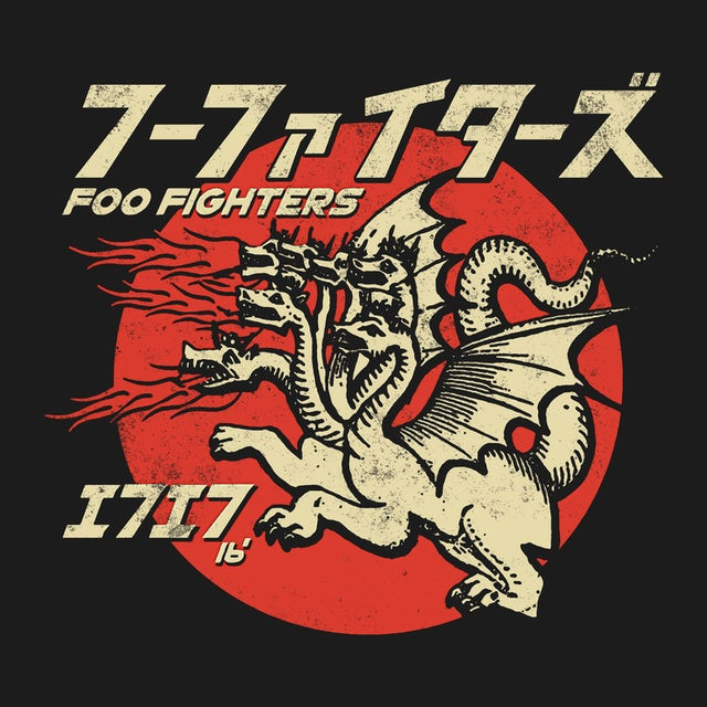 Foo Fighters T-Shirt | Fire Breathing Dragons Foo Fighter Shirt