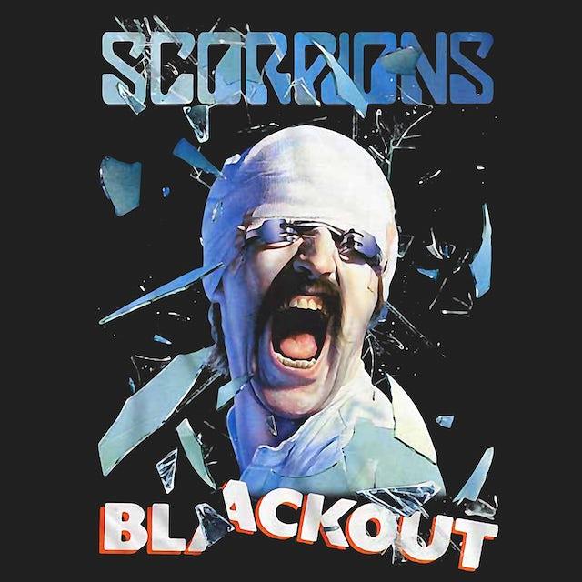 Scorpions T-Shirt   Blackout Album Art Scorpions Shirt
