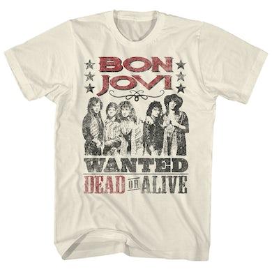 Bon Jovi T-Shirt | Wanted Dead or Alive Poster Bon Jovi Shirt