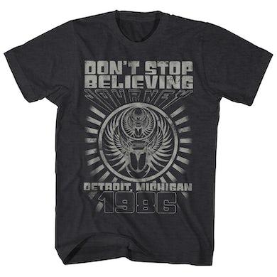 Journey T-Shirt | Don't Stop Believing Detroit '86 Concert Journey Shirt (Reissue)
