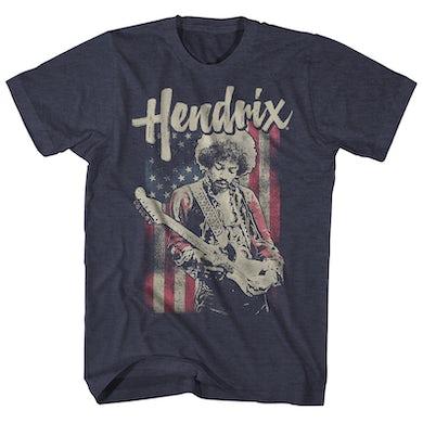 Jimi Hendrix T-Shirt | American Flag Jimi Hendrix Shirt