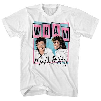 Wham! T-Shirt | Make It Big Pastel Album Art Wham! Shirt