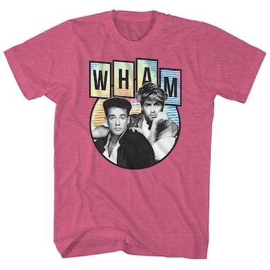 Wham! T-Shirt | Rainbow Circle Wham! Shirt