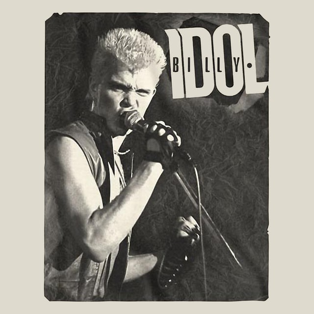 Billy Idol T-Shirt   Classic Live Photo Billy Idol Shirt