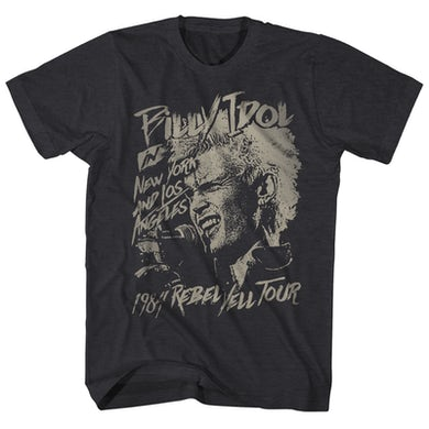 Billy Idol T-Shirt   Rebel Yell Tour '84 Billy Idol Shirt (Reissue)