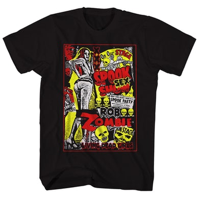 Rob Zombie T-Shirt | Living Dead Girls Pinup Rob Zombie Shirt